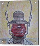 Monon Red Globe Railroad Lantern Acrylic Print