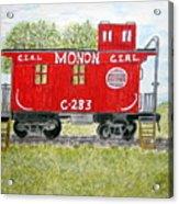 Monon Wood Caboose Train C 283 1950s Acrylic Print