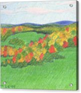 Monongalia County Autumn Acrylic Print