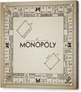 Monopoly Board Patent Vintage Acrylic Print