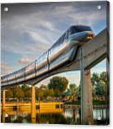 Monorail At Golden Hour Acrylic Print