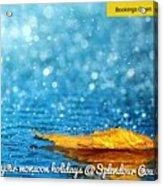 Monsoon Special One Day Picnic Spot Near Khadakwasla Splendour Country Acrylic Print