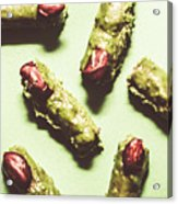 Monster Fingers Halloween Candy Acrylic Print