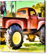 Monster Truck - Grave Digger 1 Acrylic Print
