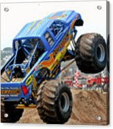 Monster Trucks - Big Things Go Boom Acrylic Print by Christine Till