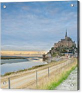Mont St Michel At Sunset  Acrylic Print