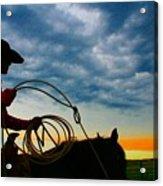 Montana Cowgirl ... Montana Art Photo Acrylic Print