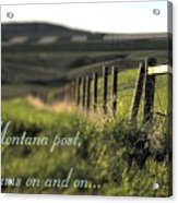 Montana Dream Acrylic Print