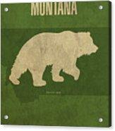 Montana State Facts Minimalist Movie Poster Art Acrylic Print