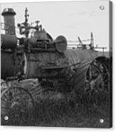 Montana Steam Farm Tractor Acrylic Print