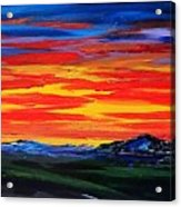 Montana Sunset Colors                     72 Acrylic Print