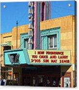 Miles City Montana - Theater Acrylic Print