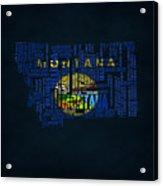 Montana Typographic Map Acrylic Print