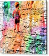Montanita Kid With Dog Acrylic Print