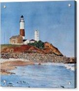 Montauk Lighthouse At Turtle Cove Acrylic Print