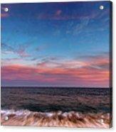 Montauk Pink Surf Acrylic Print