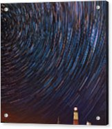 Montauk Star Trails Acrylic Print
