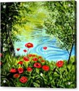Monte Rio Poppies Acrylic Print