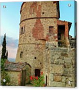 Montefollonico Stone Tower And Fortress Acrylic Print