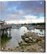 Monterey Harbor - Old Fishermans Wharf - California Acrylic Print by Brendan Reals