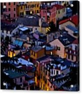 Monterosso By Night Acrylic Print