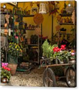 Monterosso Outdoor Shop Acrylic Print