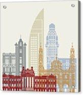 Montevideo Skyline Poster Acrylic Print