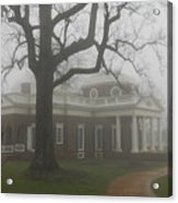 Monticello In The Fog Acrylic Print