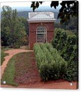 Monticello Vegetable Garden Pavilion Acrylic Print
