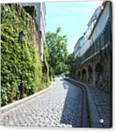 Montmarte Paris Cobblestone Streets Acrylic Print