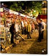 Montmartre Artist Square Paris Acrylic Print