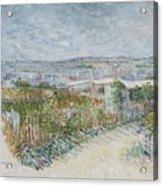 Montmartre  Behind The Moulin De La Galette Paris, July 1887 Vincent Van Gogh 1853  1890 Acrylic Print