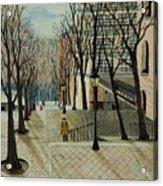 Montmartre Steps In  Paris Acrylic Print