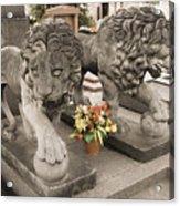 Montparnasse Cemetery Acrylic Print
