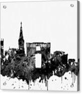 Montpellier Skyline-black Acrylic Print