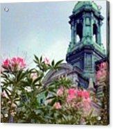 Montreal Bldg Among Flowers Acrylic Print