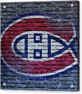Montreal Canadiens Wall Acrylic Print