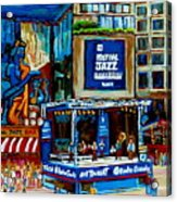 Montreal City Paintings By Streetscene Specialist Carole Spandau  Over 500 Prints Available Acrylic Print