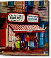 Montreal Paintings  Available For Fundraisers By Streetscene  Artist Carole Spandau  Acrylic Print