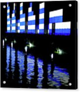 Montreal Port Night Acrylic Print