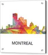 Montreal Que.skyline Acrylic Print