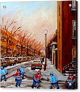 Montreal Street Hockey Game Acrylic Print