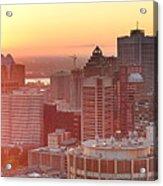 Montreal Sunrise Panorama Acrylic Print