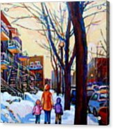 Montreal Winter Acrylic Print