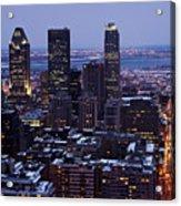 Montreal Winter Cityscape  Acrylic Print