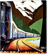 Montreux, Golden Mountain Railway, Switzerland Acrylic Print