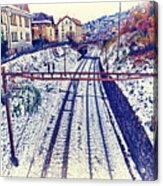 Montreux, Tracks In The City. Acrylic Print