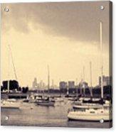 Montrose Harbor Skyline Acrylic Print