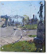 Monument At Pine Ave And Portage Rd Acrylic Print