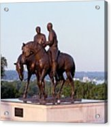 Monument In Nauvoo Illinois Of Hyrum And Joseph Smith Riding Their Horses Acrylic Print